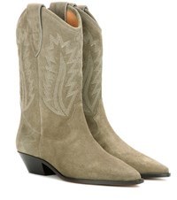 Isabel Marant Etoile Dallin Suede Boots Brown