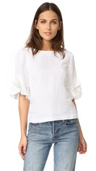 Club Monaco Hatleth Top Pure White
