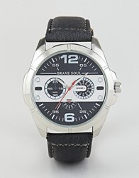 Brave Soul Chronograph Watch With Black And White Dial