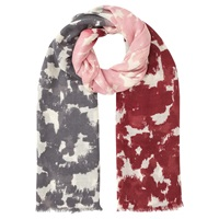 Jigsaw Three Colour Animal Large Scarf Pink