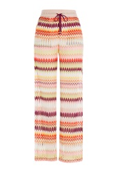 Missoni Mare Crochet Knit Wide Leg Pants Multicolor