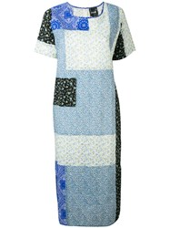 P.A.M. Perks And Mini Pam If You're Down Maxi Dress Women Cotton S Blue