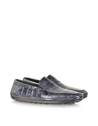 Pakerson Antique Stone Alligator Loafer Gray