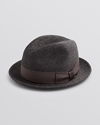 Bailey Of Hollywood Riff Polished Wool Center Dent Crown Hat Bloomingdale's Exclusive Charcoal Mix