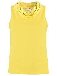 Lygia And Nanny Fitted Sleeveless Blouse Yellow And Orange