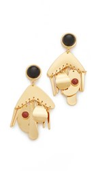 Lizzie Fortunato Picasso Palette Earrings Gold Multi