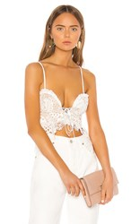 X By Nbd Minxi Top In White. Ivory