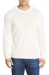 Men's Big And Tall Nordstrom Cashmere Crewneck Sweater White Snow