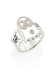 Guccighost Sterling Silver Ghost Ring