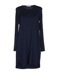 Bp Studio Short Dresses Dark Blue
