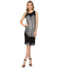 Norma Kamali Sleeveless Shirred Waist Dress Fringe Women's Dress Brown