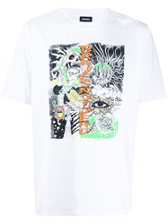 Diesel Sketched Graphic T Shirt 60