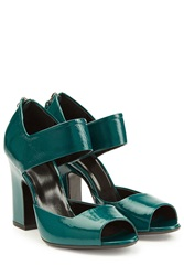 Pierre Hardy Patent Leather Pumps Green