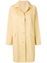 Aspesi Button Fastened Trench Coat Yellow