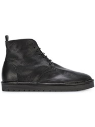 Marsell Marsa Ll Textured Ankle Tie Boots Black