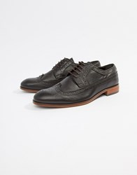Dune Brogues In Brown Leather