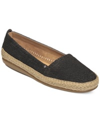 Aerosoles Solitaire Espadrille Flats Women's Shoes Black Eyelet