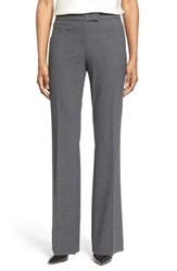 Anne Klein Women's Flare Leg Suit Pants Light Grey