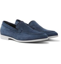 Canali Suede Loafers Navy