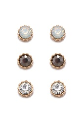 Forever 21 Mixed Rhinestone Stud Set Gold Clear