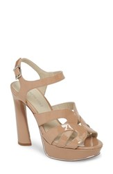 Kenneth Cole New York Nealie Sandal Nude Patent Leather