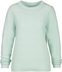 Sandwich Rib Knit Jumper Green