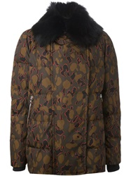 Moncler Gamme Rouge Camouflage Padded Coat Green