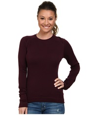Smartwool Midweight Crew Aubergine Heather Women's Long Sleeve Pullover Brown