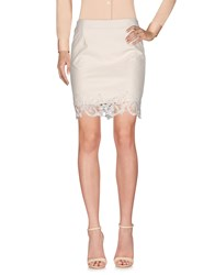Goldie London Knee Length Skirts White