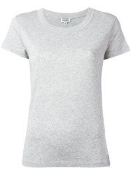 Kenzo Ribbed Round Neck T Shirt Grey