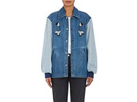 Opening Ceremony Women's Embroidered Denim Jacket Blue