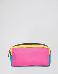 Asos Colourblock Nylon Makeup Bag Multi