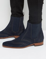 Jeffery West Scarface Leather Chelsea Boots Navy