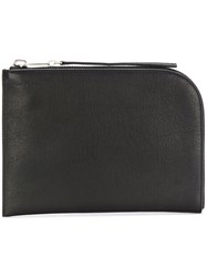 Rick Owens Curved Clutch Leather Black