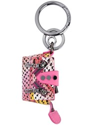 Kenzo 'Kalifornia' Tote Keyring Pink And Purple