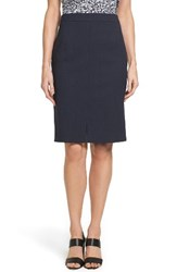 Boss Women's Valesana Stretch Wool Pencil Skirt Navy