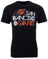 47 Brand '47 Men's San Francisco Giants Crosstown Scrum Bic T Shirt Black