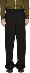 3.1 Phillip Lim Black Pleated Wide Leg Trousers