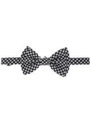 Dolce And Gabbana Printed Bow Tie Black