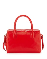Cole Haan Isabella Leather Satchel Bag Fiery Red