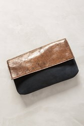 Anthropologie Two Tone Clutch Black