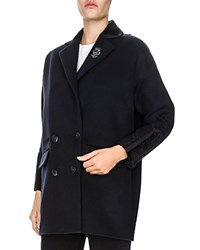 The Kooples Embroidered Peacoat Navy