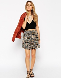 Asos Skater Skirt In Aztec Print Multi