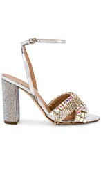Gedebe Alexine Heel In Metallic Silver. Argento And Aurora Boreale