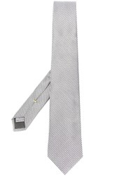 Canali Geometric Patterned Tie Grey