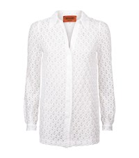 Missoni Crochet Lace Shirt Female White