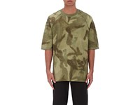 Yeezy Men's Abstract Camouflage Print T Shirt Green Dark Green