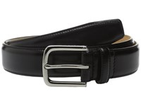 Cole Haan 32Mm Spazzolato Feather Edge Stitched Strap Black Men's Belts