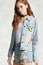 Forever 21 Butterfly Patch Denim Jacket