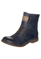 Mustang Laceup Boots Blau Blue